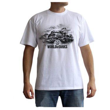 World of Tanks – Tričko s logem a tankem bílé 8700632ced